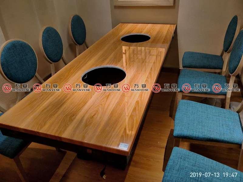 凤和肥牛-仿木纹火锅桌