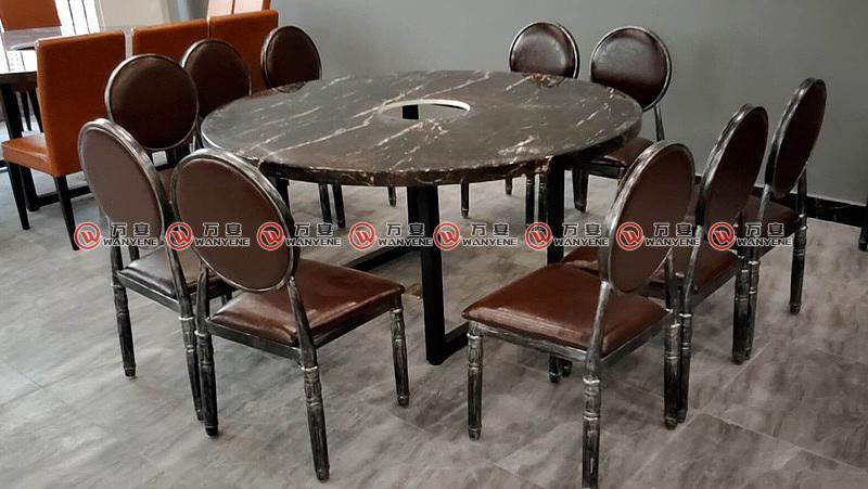 五金脚火锅桌